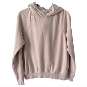 ARITZIA Wilfred Pastel Pink Hooded Sweater small